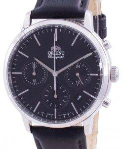 Orient Contemporary Chronograph Black Dial Quartz RA-KV0303B10B Men's Watch