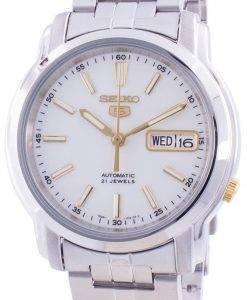 Seiko 5 Automatic White Dial SNKL77 SNKL77K1 SNKL77K Men's Watch