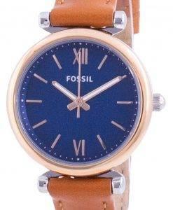 Fossils Carlie Mini Blue Dial Quartz ES4701 Women's Watch