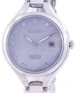Citizen Super Titanium Diamond Accents Eco-Drive EW2560-86D Women's Watch
