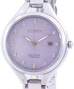 Citizen Super Titanium Diamond Accents Eco-Drive EW2560-86Y Women's Watch