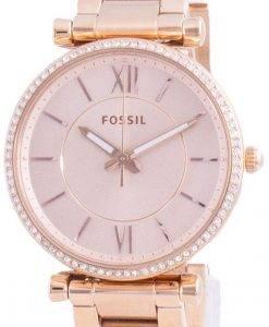 FossilCarlieダイヤモンドアクセントクォーツES4301レディースウォッチ