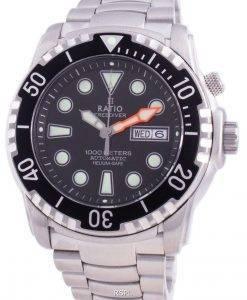比率無料ダイバーヘリウムセーフ1000 Mサファイア自動1068HA96-34VA-BLKメンズ腕時計