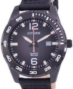 Citizen Black Dial Nylon Strap Quartz BI1045-05E 100M Herreur