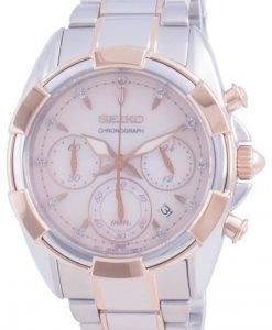 Seiko Discover More Chronograph Diamond Accents Quartz SRWZ02 SRWZ02P1 SRWZ02P 100M Dameur