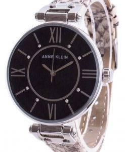 アンクラインスワロフスキークリスタルアクセント3229BKCRクォーツレディース腕時計