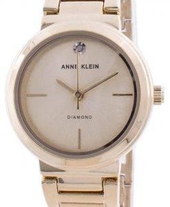 アンクライン本物のダイヤモンド3528CHGBクォーツレディース腕時計
