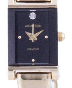 アーミトロンブラックダイヤルダイヤモンドアクセントクォーツ755322BKGPレディースウォッチ