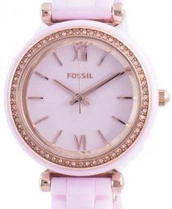 FossilCarlieミニダイヤモンドアクセントクォーツCE1106レディースウォッチ