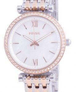 FossilCarlieミニダイヤモンドアクセントクォーツES4649レディースウォッチ