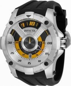 インビクタS1ラリーブラックダイヤルオートマチック33484100Mメンズウォッチ