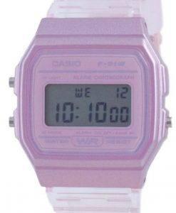 Casio Jugend Pink Resin Digital F-91WS-4 F91WS-4 Unisex Uhr